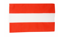 Flagge mit Hohlsaum Österreich
