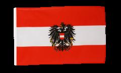 Flagge mit Hohlsaum Österreich mit Adler