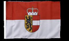 Flagge mit Hohlsaum Österreich Salzburg