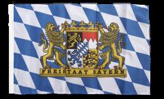 Flagge mit Hohlsaum Deutschland Bayern Freistaat