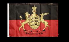 Flagge mit Hohlsaum Deutschland Württemberg