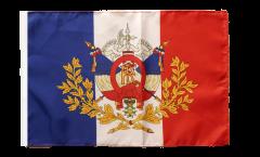 Flagge mit Hohlsaum Frankreich mit Wappen