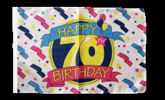 Flagge mit Hohlsaum Happy Birthday