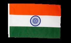 Flagge mit Hohlsaum Indien