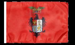 Flagge mit Hohlsaum Italien Provinz Palermo