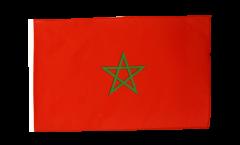 Flagge mit Hohlsaum Marokko