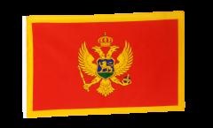 Flagge mit Hohlsaum Montenegro