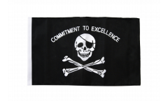Flagge Pirat Commitment to excellence - 30 x 45 cm