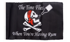 Flagge mit Hohlsaum Pirat The Time Flies When You are Having Rum