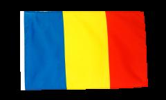 Flagge mit Hohlsaum Rumänien