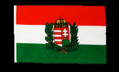 Flagge mit Hohlsaum Ungarn mit Wappen
