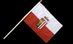 Stockflagge Österreich Oberösterreich - 30 x 45 cm
