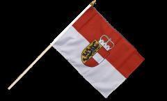 Stockflagge Österreich Salzburg - 30 x 45 cm