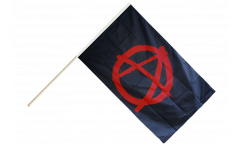 Stockflagge Anarchy Anarchie rot