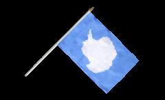 Stockflagge Antarktis - 30 x 45 cm