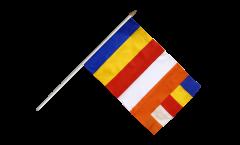 Stockflagge Buddhismus - 30 x 45 cm