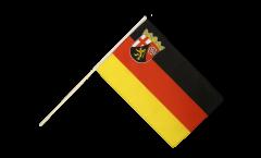 Stockflagge Deutschland Rheinland-Pfalz