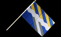 Stockflagge Frankreich Aisne