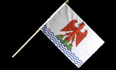 Stockflagge Frankreich Alpes-Maritimes