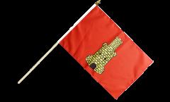 Stockflagge Frankreich Caen