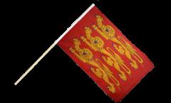 Stockflagge Frankreich Haute Normandie, treis cats