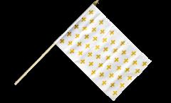 Stockflagge Frankreich Lilienwappen, weiß