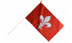 Stockflagge Frankreich Lille