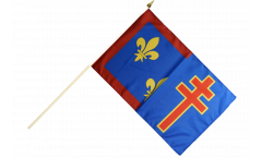 Stockflagge Frankreich Maine-et-Loire