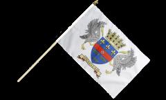 Stockflagge Frankreich Saint-Barthélemy