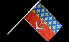 Stockflagge Frankreich Seine-Saint-Denis