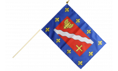 Stockflagge Frankreich Val-d'Oise