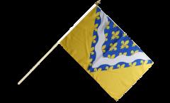 Stockflagge Frankreich Val-de-Marne