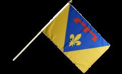 Stockflagge Frankreich Var