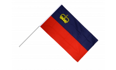 Stockflagge Liechtenstein