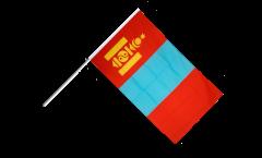 Stockflagge Mongolei