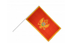 Stockflagge Montenegro