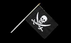 Stockflagge Pirat mit zwei Schwertern