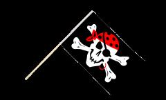 Stockflagge Pirat one eyed Jack