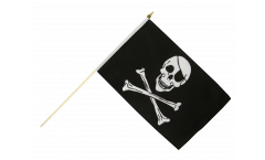 Stockflagge Pirat Skull and Bones - 30 x 45 cm