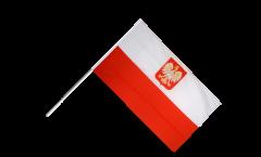 Stockflagge Polen mit Adler