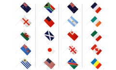 Stockflaggen Set Rugby WM 2015 - 30 x 45 cm