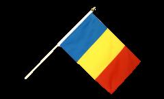 Stockflagge Rumänien