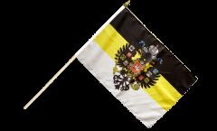 Stockflagge Russland Romanow mit Wappen 1858-1883