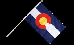 Stockflagge USA Colorado