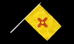 Stockflagge USA New Mexico - 30 x 45 cm