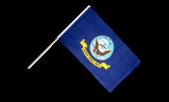 Stockflagge USA US Navy