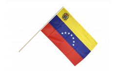 Stockflagge Venezuela 7 Sterne mit Wappen 1930-2006