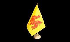 Tischflagge Belgien Wallonien