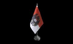 Tischflagge Deutschland Stadt Köln mit großem Wappen - 10 x 15 cm