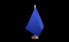 Tischflagge Einfarbig Blau